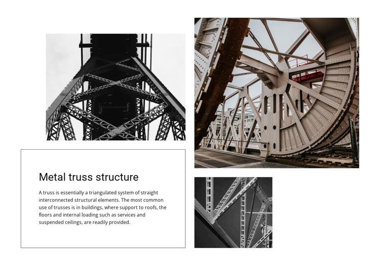 Metal truss structure HTML Template