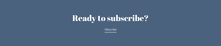 Ready subscribe Html Website Builder