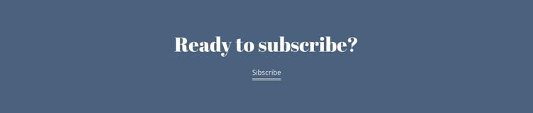 Ready subscribe Joomla Page Builder