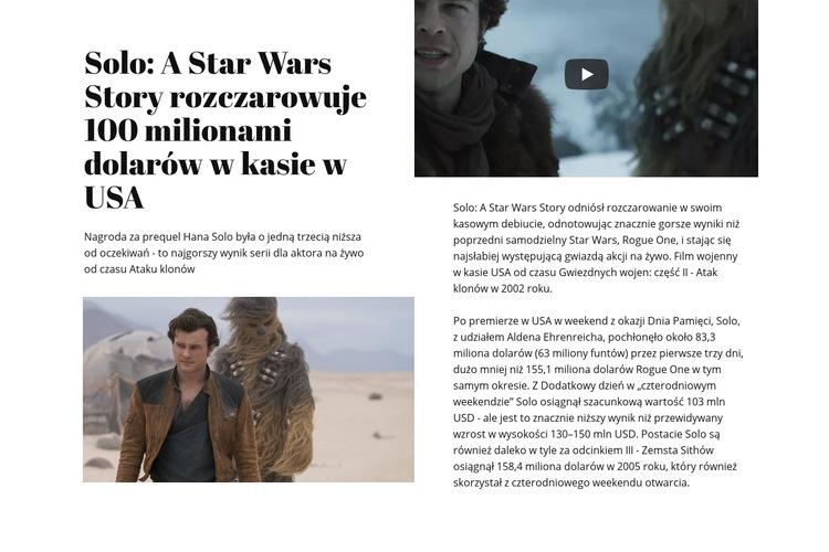 Star Wars Story Szablon witryny sieci Web
