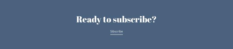 Ready subscribe Web Design