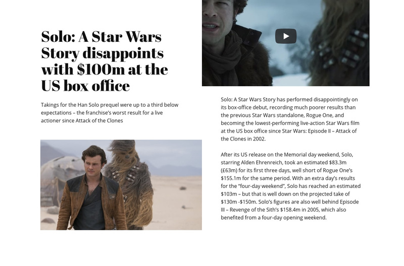 Star Wars Story Web Page Design