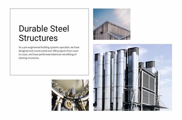 Durable Steel Structures Website Template