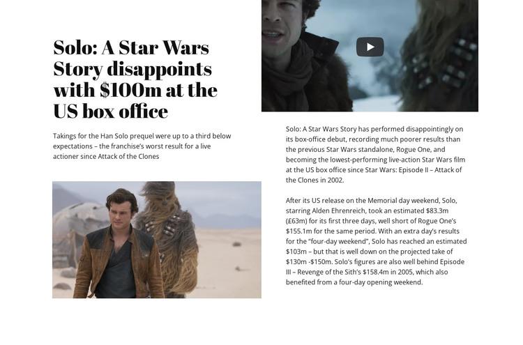 Star Wars Story WordPress Theme