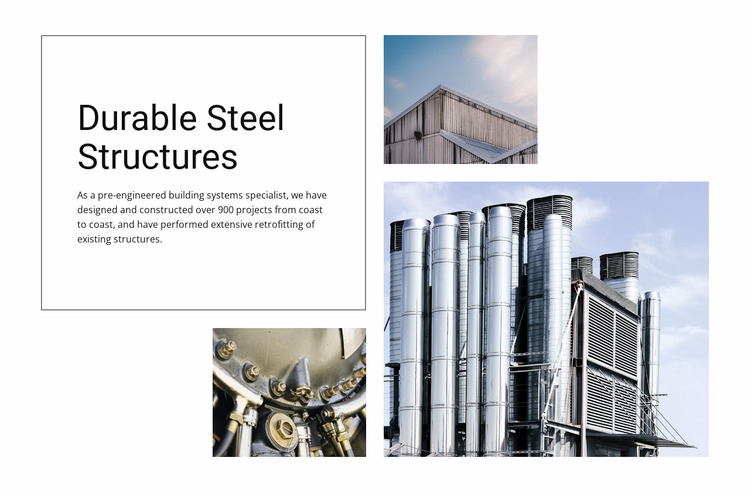 Durable Steel Structures WordPress Website Builder