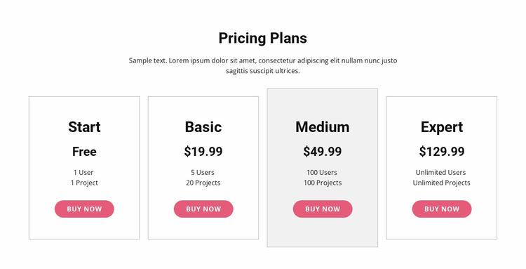 Upgrade to a premium plan Landing Page