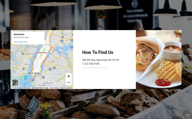 Consulting firm office location One Page Template