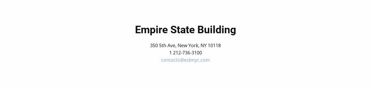 Contact details and address Website Design