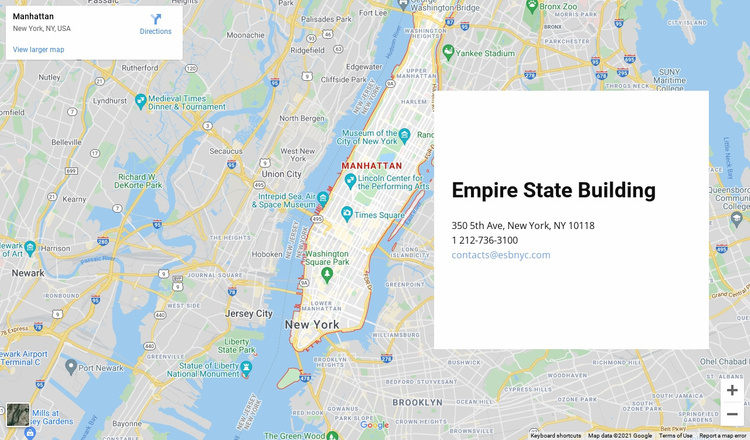 Contact us block with a map on background Website Template