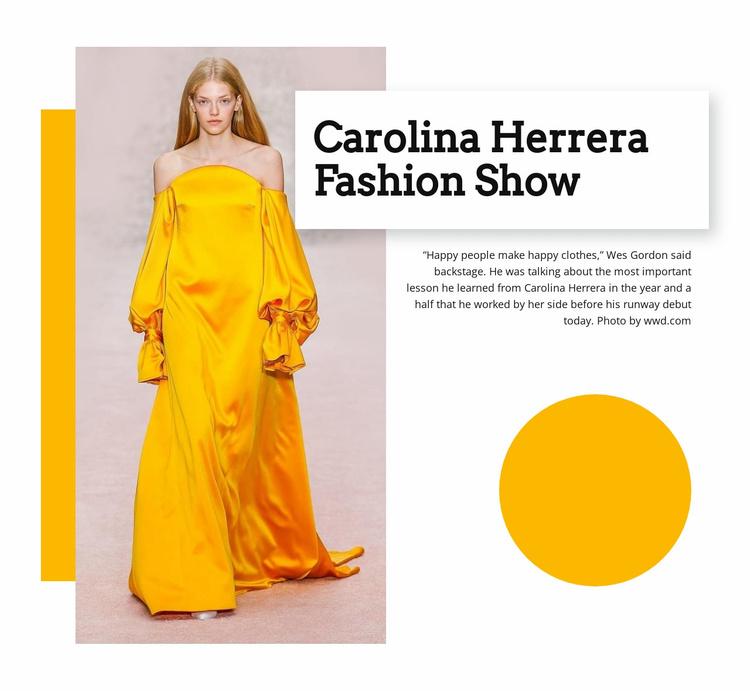 Fashion Show Website Template