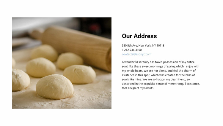Our Address Website Template