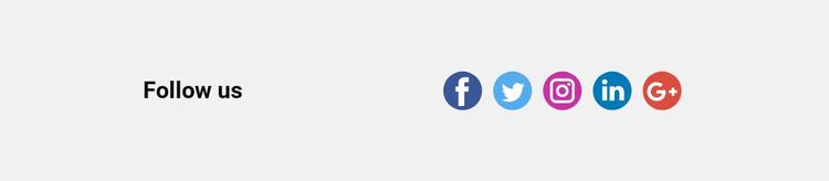 Follow us on Twitter and Instagram Joomla Template