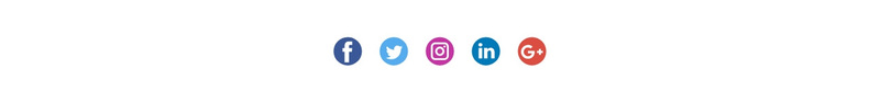 Social icons with colored background Web Page Design