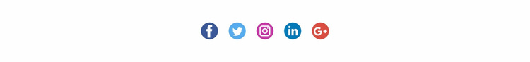 Social icons with colored background Website Design
