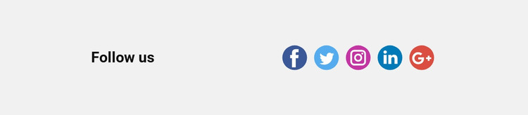 Follow us on Twitter and Instagram WordPress Website Builder