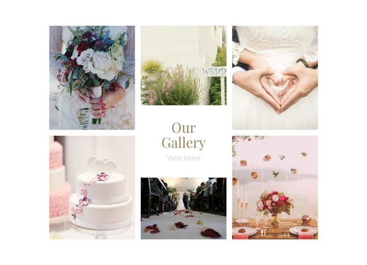 Galerry Wedding Planners One Page Template