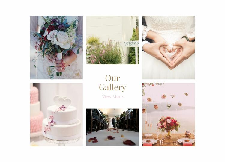 Galerry Wedding Planners Website Mockup