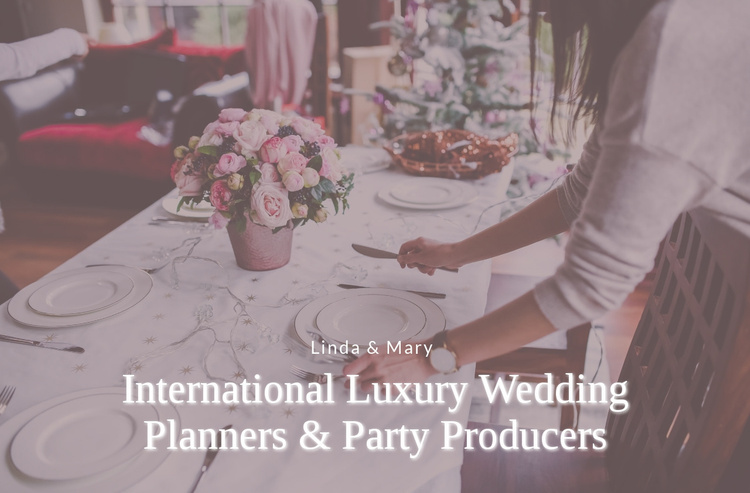 Luxury Wedding Planners Website Template