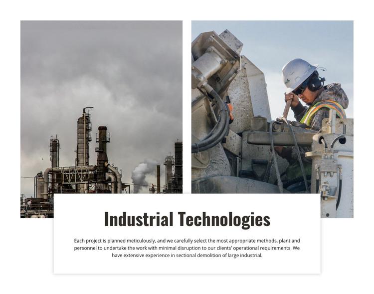 Industrial technologies Homepage Design