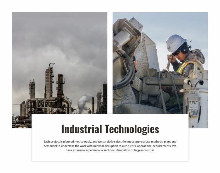 Industrial technologies Html Website Builder