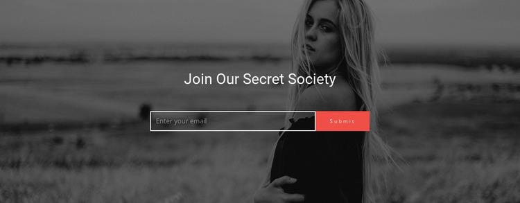 Join Our Secret Society Html Website Builder