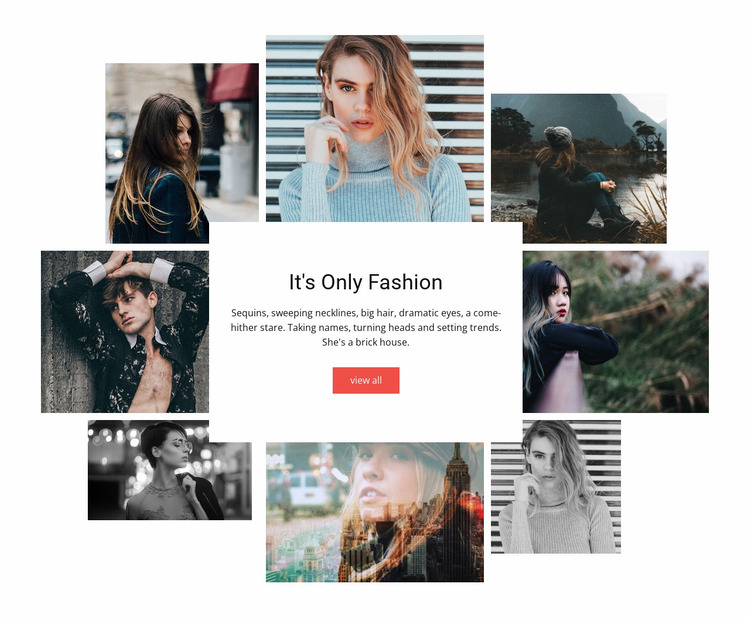 Its Only Fashion Website Mockup