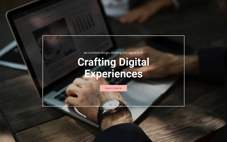 Crafting digital experiences HTML Template