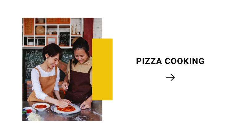 Cooking pizza HTML Template