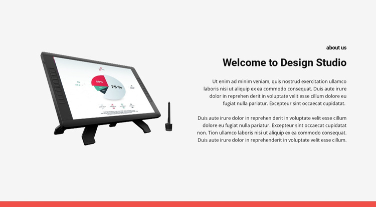 Build a website with us HTML5 Template