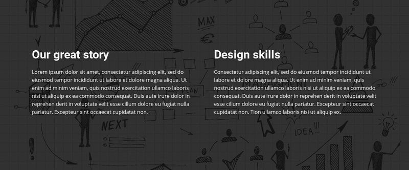 Great story design Web Page Design
