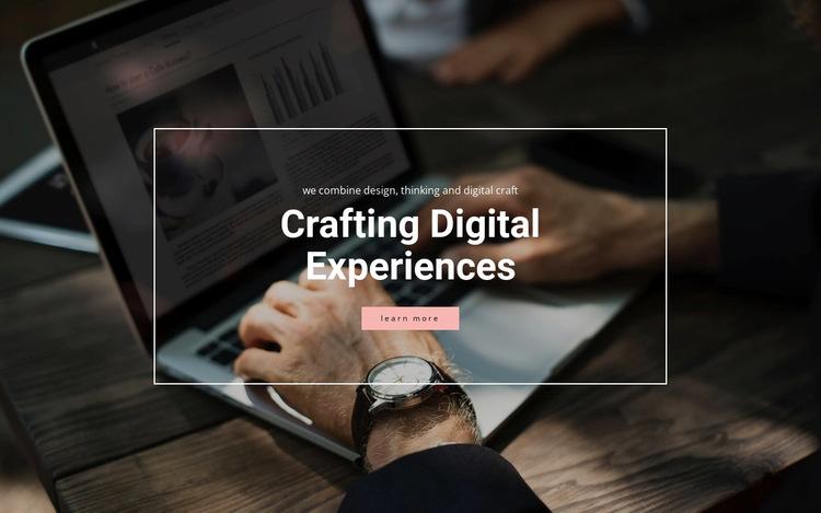 Crafting digital experiences Website Builder