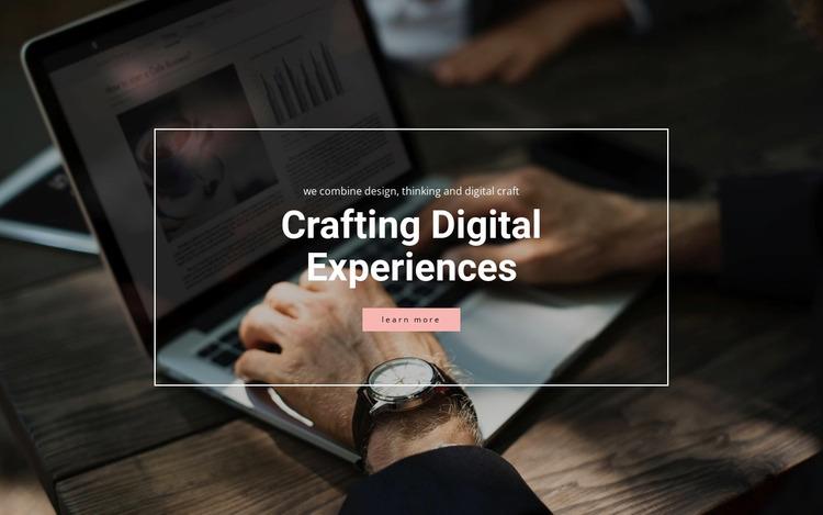 Crafting digital experiences Website Mockup