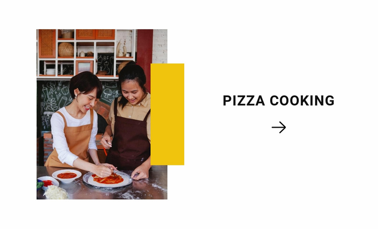 Cooking pizza Website Template