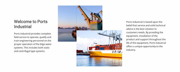 Board Ports Industrial Website Template