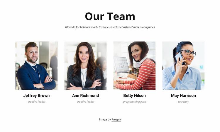 We create great things Landing Page