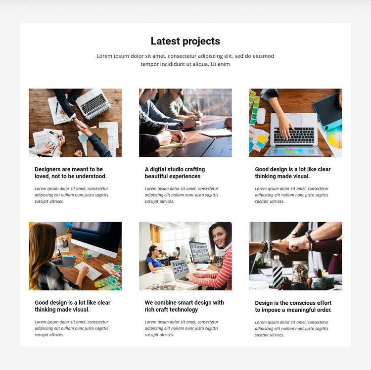 Collection latest projects WordPress Theme