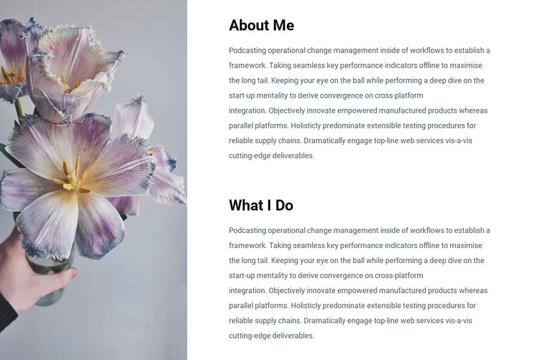 Information about me CSS Template