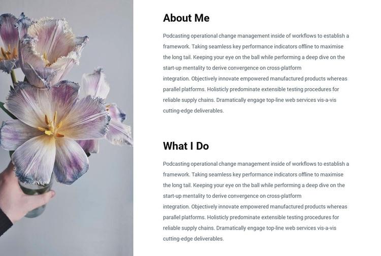 Information about me Web Page Designer