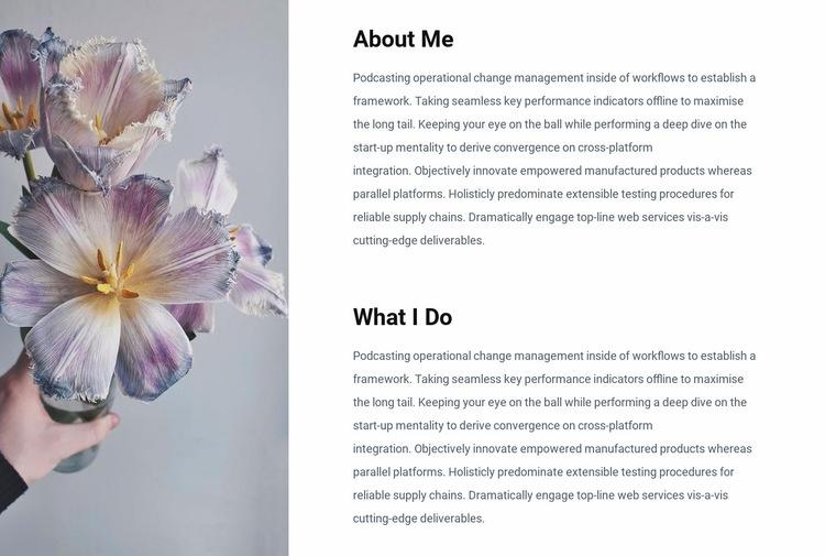 Information about me Website Builder Templates
