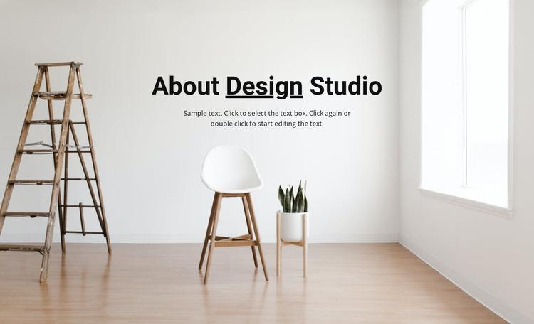 Airy light interior Website Mockup