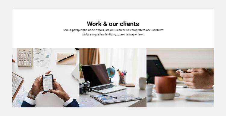 Board Work Clients Website Template