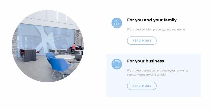 Business office interior Website Template