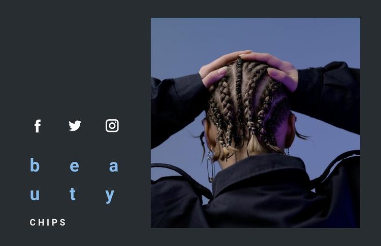 Masters of original hairstyles Website Template