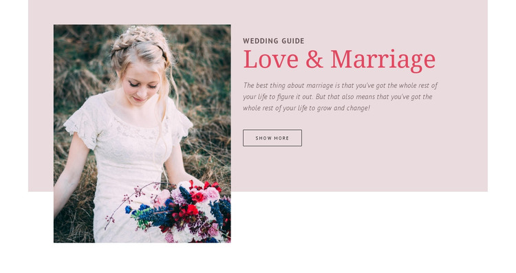 Wedding Guide HTML Template
