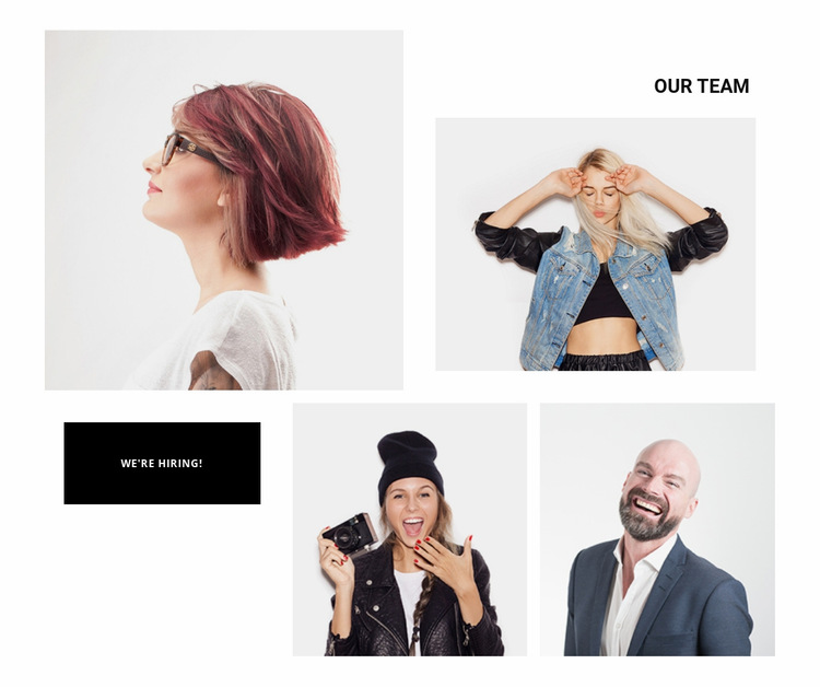Our team counts with 4 people Website Builder Templates