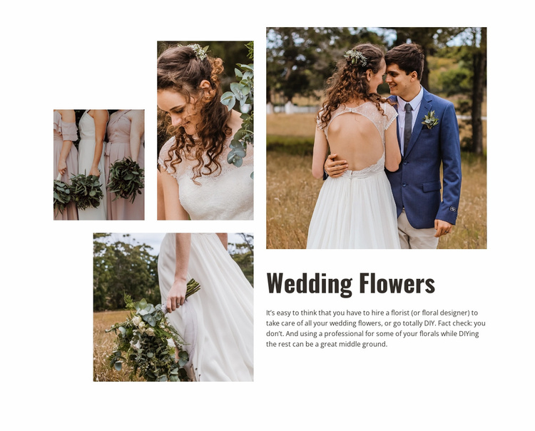 Wedding Flowers Website Template
