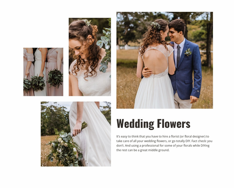 Wedding Flowers WordPress Website Builder