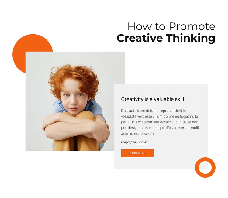 How to promote creative thinking HTML Template