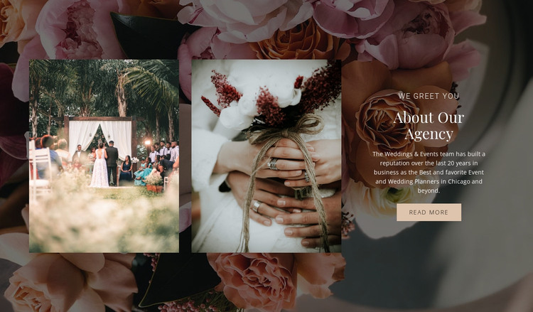 Plan the perfect wedding HTML Template