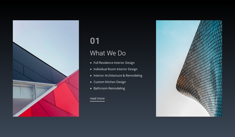 What we do for dream HTML Template